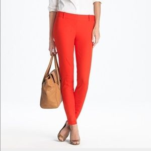 J Crew red cropped minnie pant